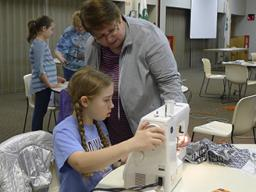 "4-H youth can practice their basic sewing skills at the ""Jammie Jamboree"" workshop."