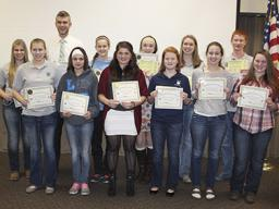Pictured are the 2014 Community Service age 14 & over winners.