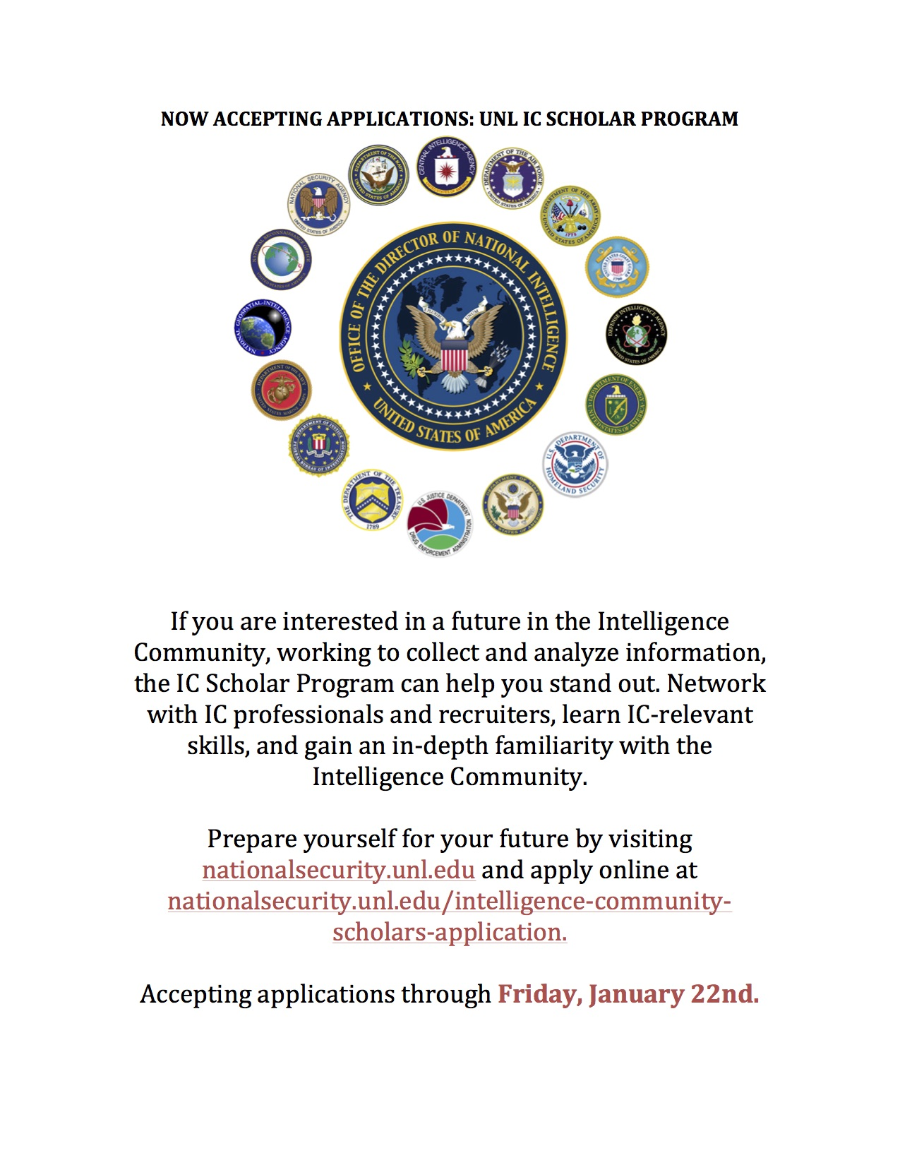 Student Programs Search for Intelligence Careers