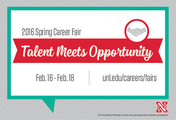 Don't miss the 2016 Spring Career Fairs, Feb. 16-18.