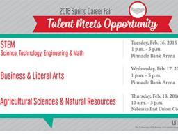 Spring Career Fair on Feb. 16.