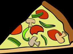 Pizza slices for sale on Thursdays.