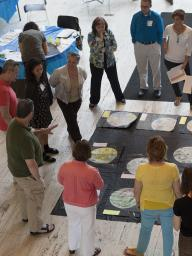 Teachers discuss cross-disciplinary curriculum at Sheldon Museum of Art.