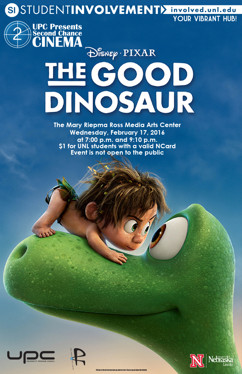 UPC presents The Good Dinosaur (2/17: 7 & 9pm; The Ross)