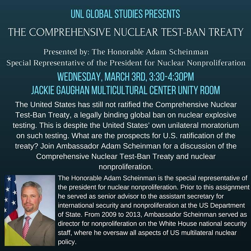 Event: Discussion with Ambassador Adam Scheinman