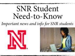 SNR Student Information