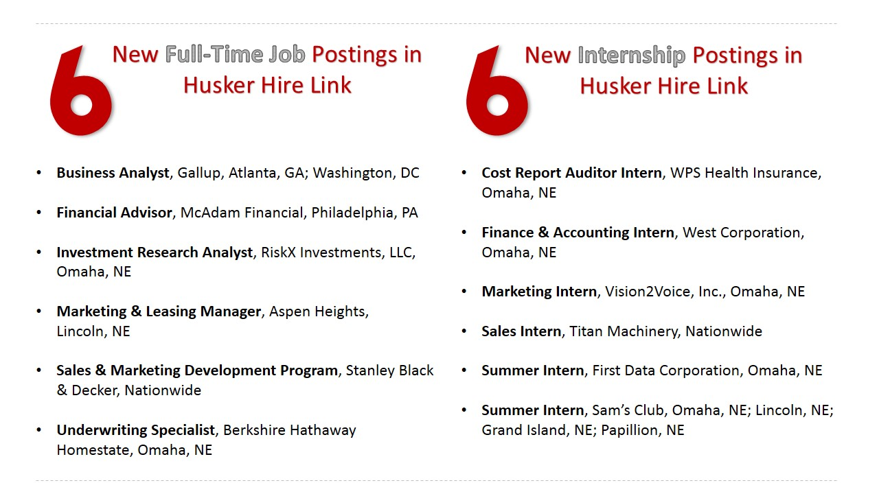 New Jobs And Internships This Week Announce University