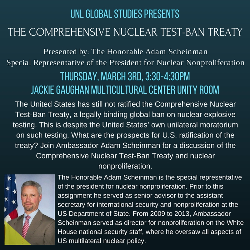 the comprehensive test ban treaty The conference on disarmament (cd) began its substantive negotiations on a  comprehensive nuclear-test-ban treaty in january 1994 within the framework of.