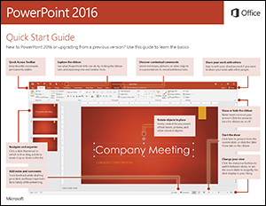 Tips, Tricks & Other Helpful Hints: PowerPoint 2016 Quick Start Guide