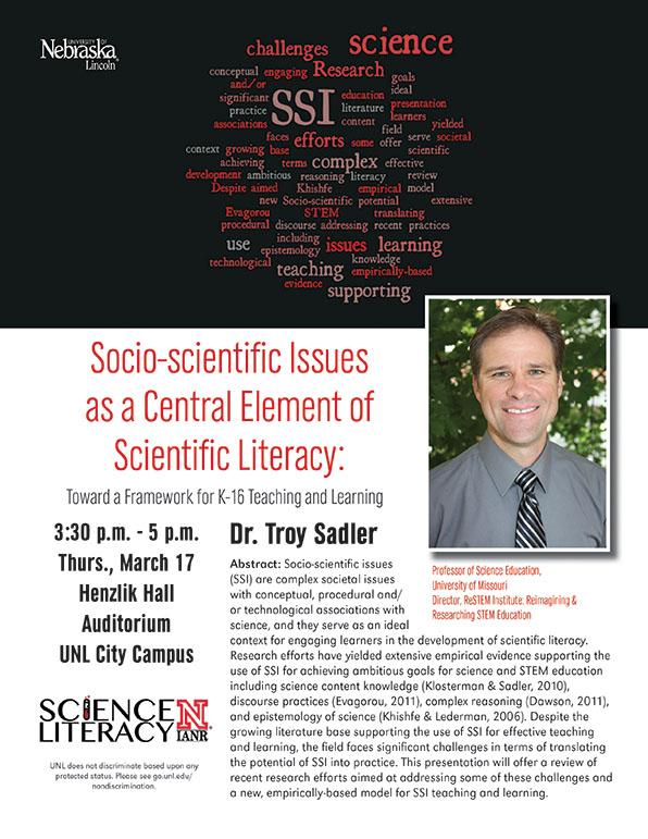 Dr. Troy Sadler, March 17