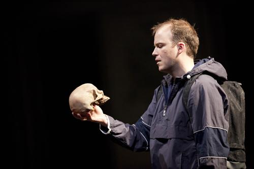 "Rory Kinnear in ""Hamlet."""