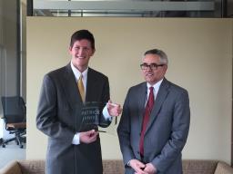Pat Janike with Dr. Matt Larson, LPS