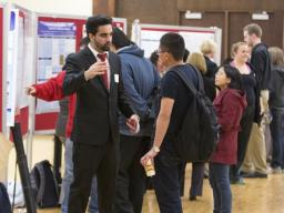 Students showcasing their research and creative activity.