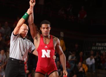 165-pound senior Jordan Burroughs gets the win.