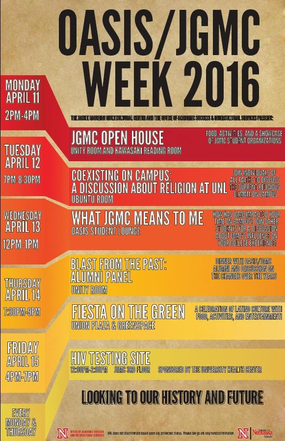 OASIS/JGMC Week 2016