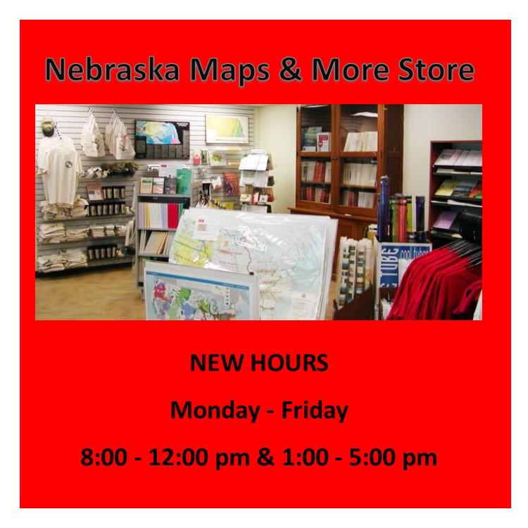 Nebraska Maps & More Store New Hours