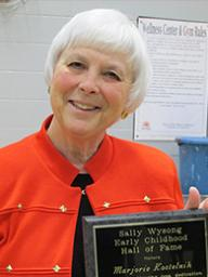 CEHS Dean Marjorie Kostelnik was presented the Sally Wysong award April 9 by LAEYC.