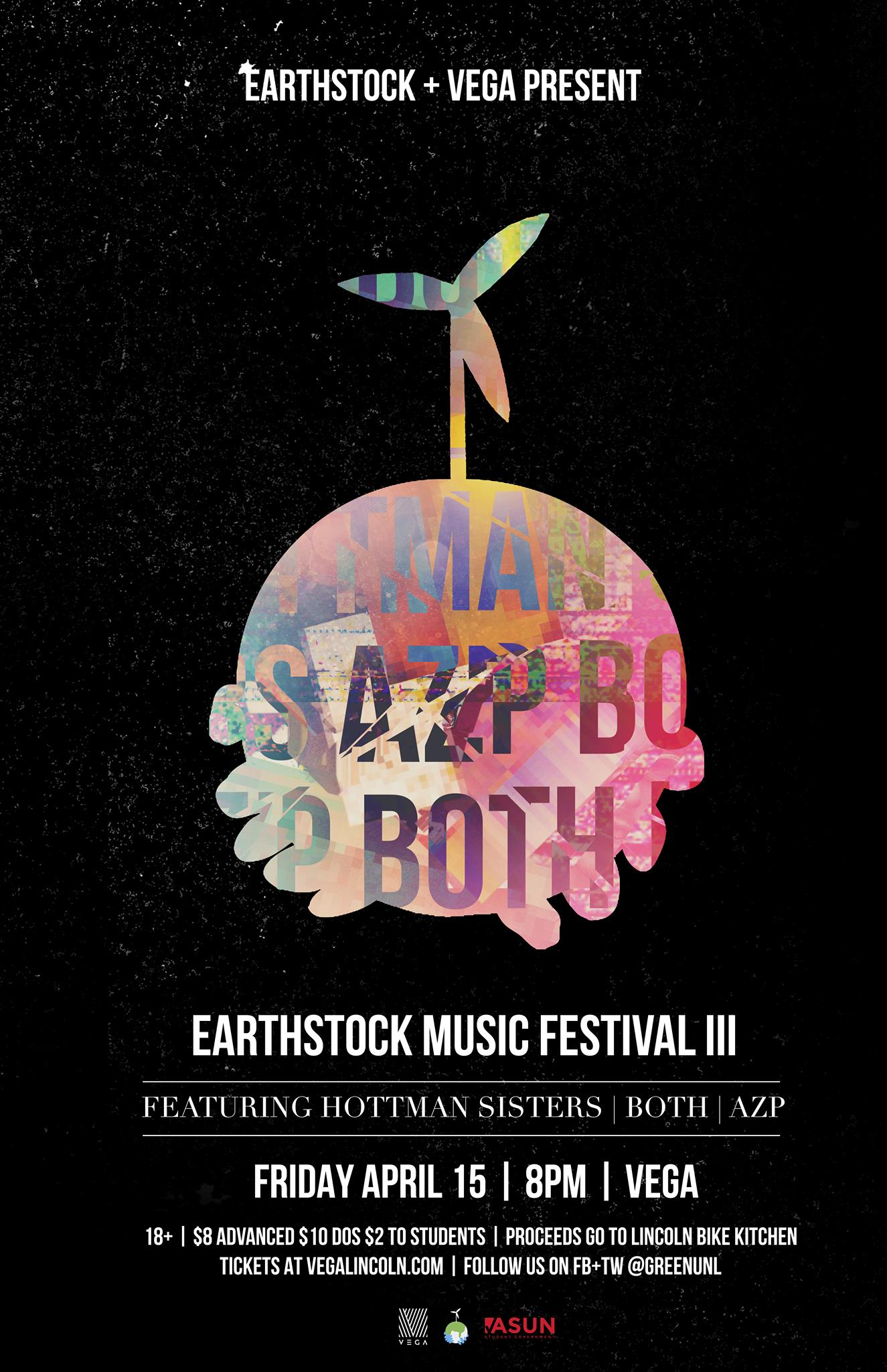Earthstock Music Festival, Fri., April 15, Vega @ 8pm