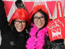 Graduating students are invited to celebrate their accomplishments and pick up their caps and gowns at the alumni association's Gradfest party.
