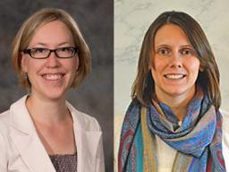From left, Jenny Dauer, SNR associate professor, and Natalie Umphlett, High Plains Regional Climate Center interim director, were named 2016 Great Plains Fellows.