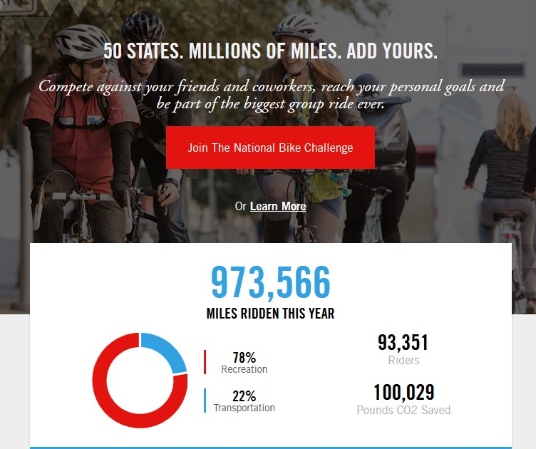 Join East Campus in the National Bike Challenge, which begins May 1. (Courtesy image)
