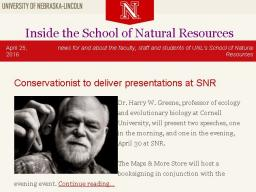 Inside the SNR will be released every other week through the summer.