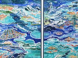 "Karen N. Dienstbier, ""Rocky Mountain Series- Falls,"" watercolor, 26"" x 32"", 2005."