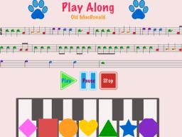 """A screen shot from Morgan Dennhardt's """"Play Along"""" app."""