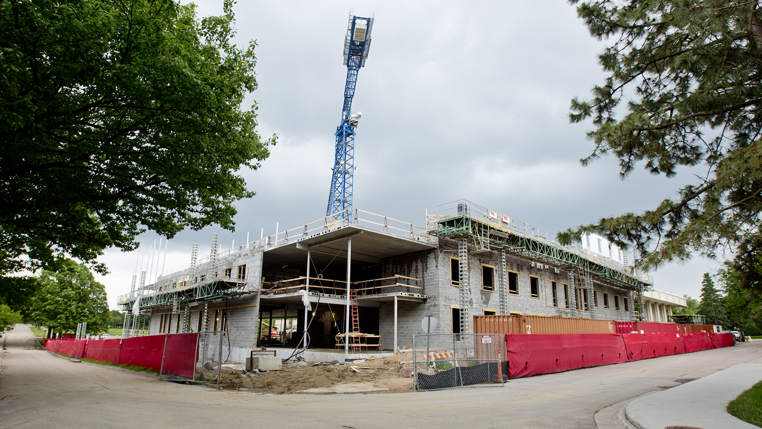 Large projects two on east campus dominate summer for New house construction schedule