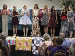 4-H members enrolled in clothing projects are eligible to model their garment in the 4-H Fashion Show.