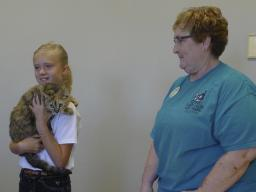 A 4-H'er prepares to show her cat the judge at the 2015 Lancaster County Super Fair.