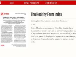 The Healthy Farm Index is meant to help farmers monitor and improve the long-term health of their farm.