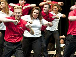 The Big Red Singers perform Aug. 20. Photo by Michael Reinmiller.