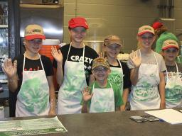 By volunteering at 4-H Food Booth at Super Fair, youth gain practical experience handling food safely and counting change. They also gain life skills, such as responsibility, critical thinking and social skills.