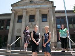 The team includes, from left, Lorey Wheeler, Brandy Clarke (UNMC), Susan Sheridan and Kristen Derr.