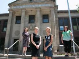 The team includes, from left, Lorey Wheeler, Brandy Clarke (UNMC), Susan Sheridan and Kristen Derr.