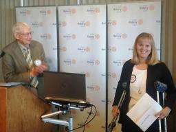 Darla Berks (right) accepts the 2016 Don Miller Math Award.