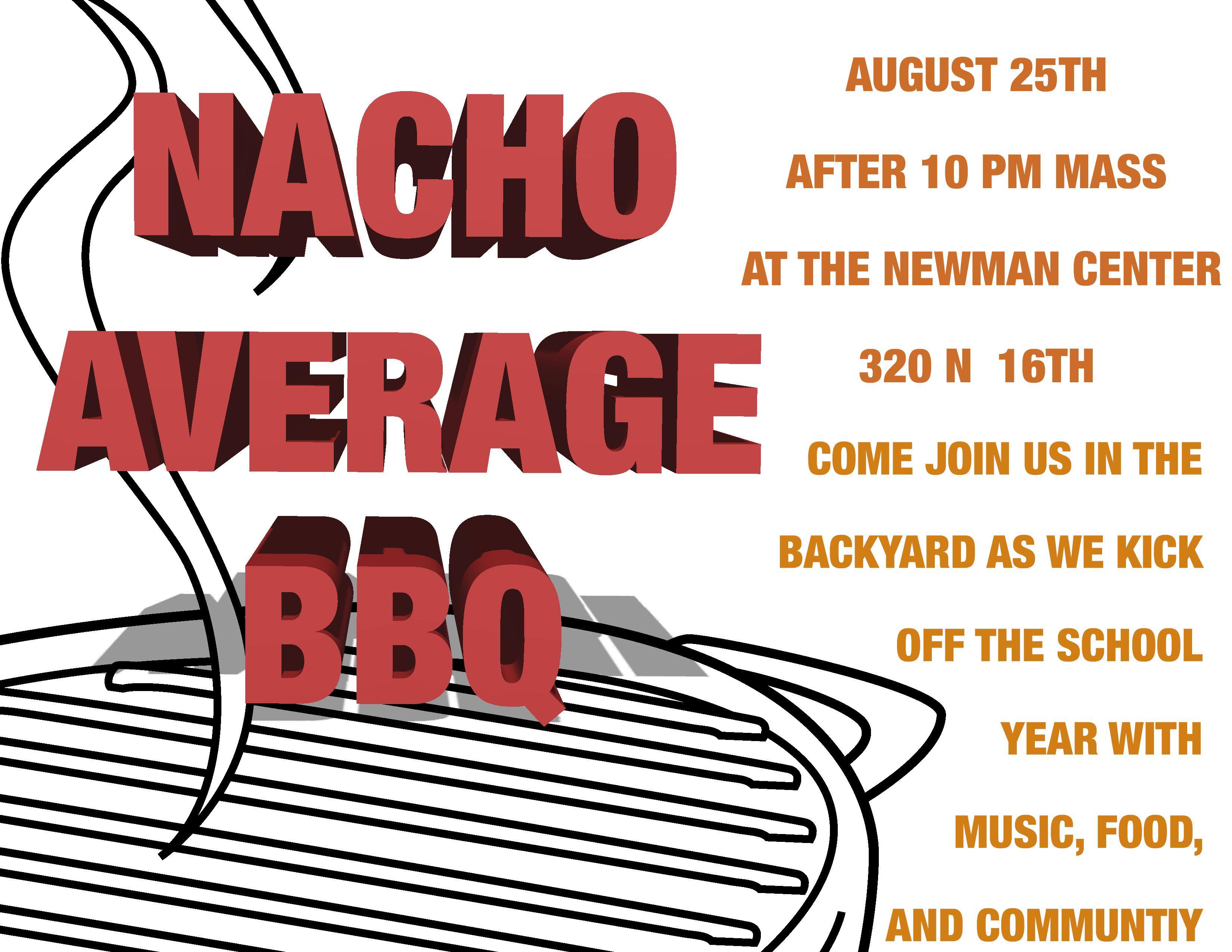 Nacho Average BBQ Poster