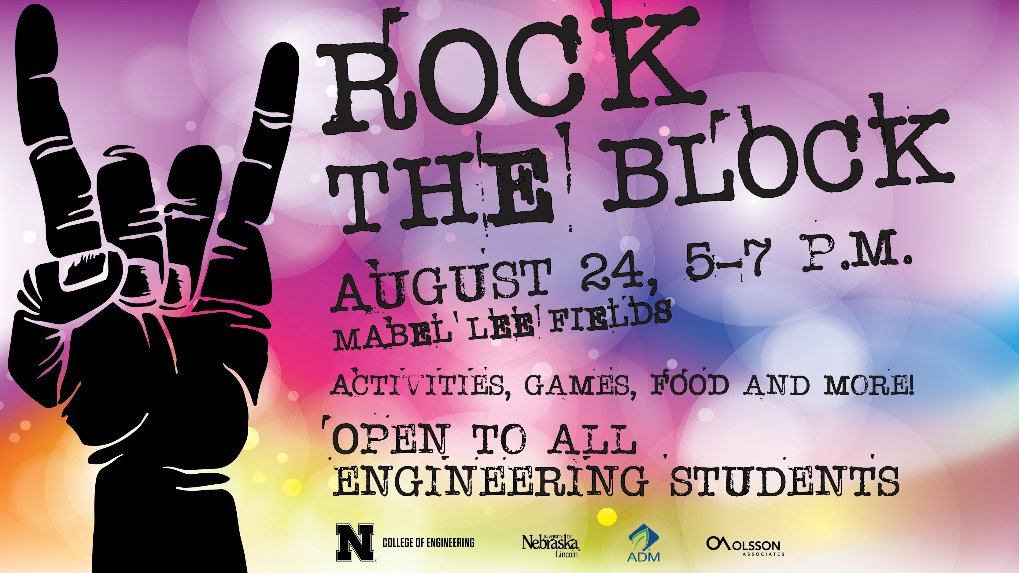 Rock the Block is Wednesday from 5-7 p.m. at Mabel Lee Hall.
