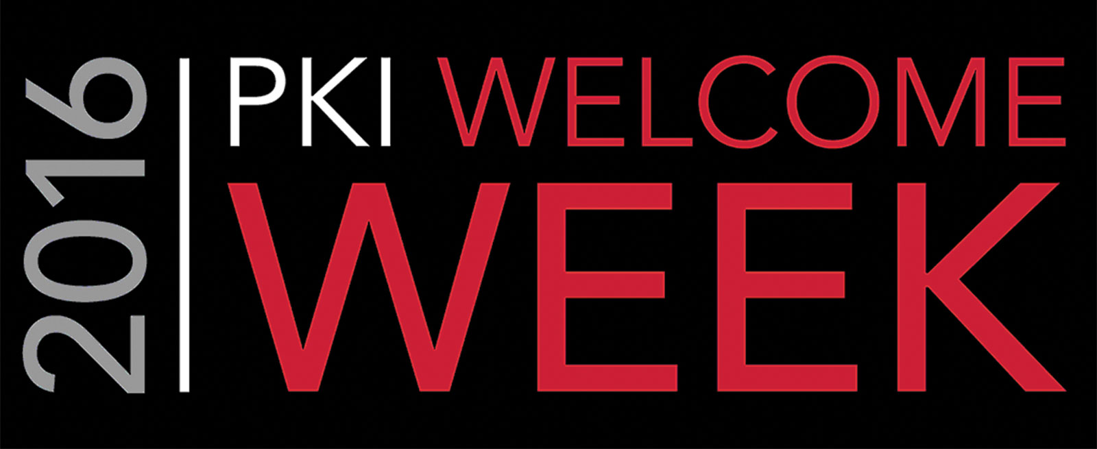 PKI Welcome Week runs Monday through Friday.