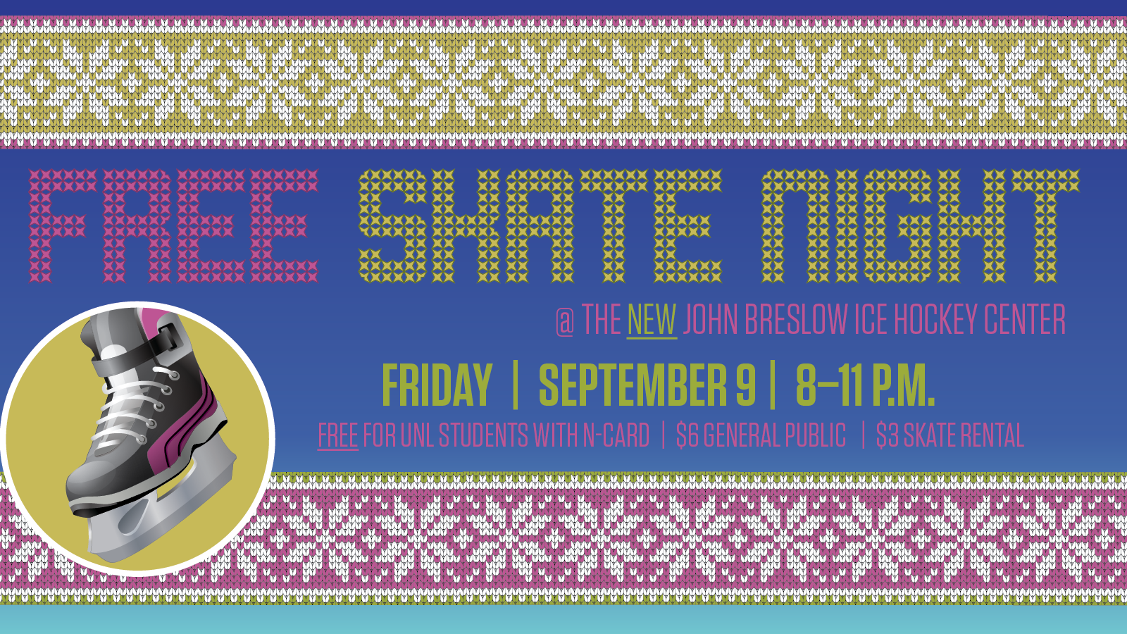 First free Skate Night of fall is Sept. 9.