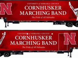 Cornhusker Marching Band Trailer design