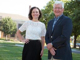 CYFS project manager Amanda Witte and Rural Futures Institute director Chuck Schroeder. The institute is funding a new project that trains rural Nebraska school personnel to facilitate TAPP, a family-school partnership model.