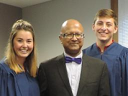 Dipra Jha honored Sept. 22 by Omicron Delta Kappa.