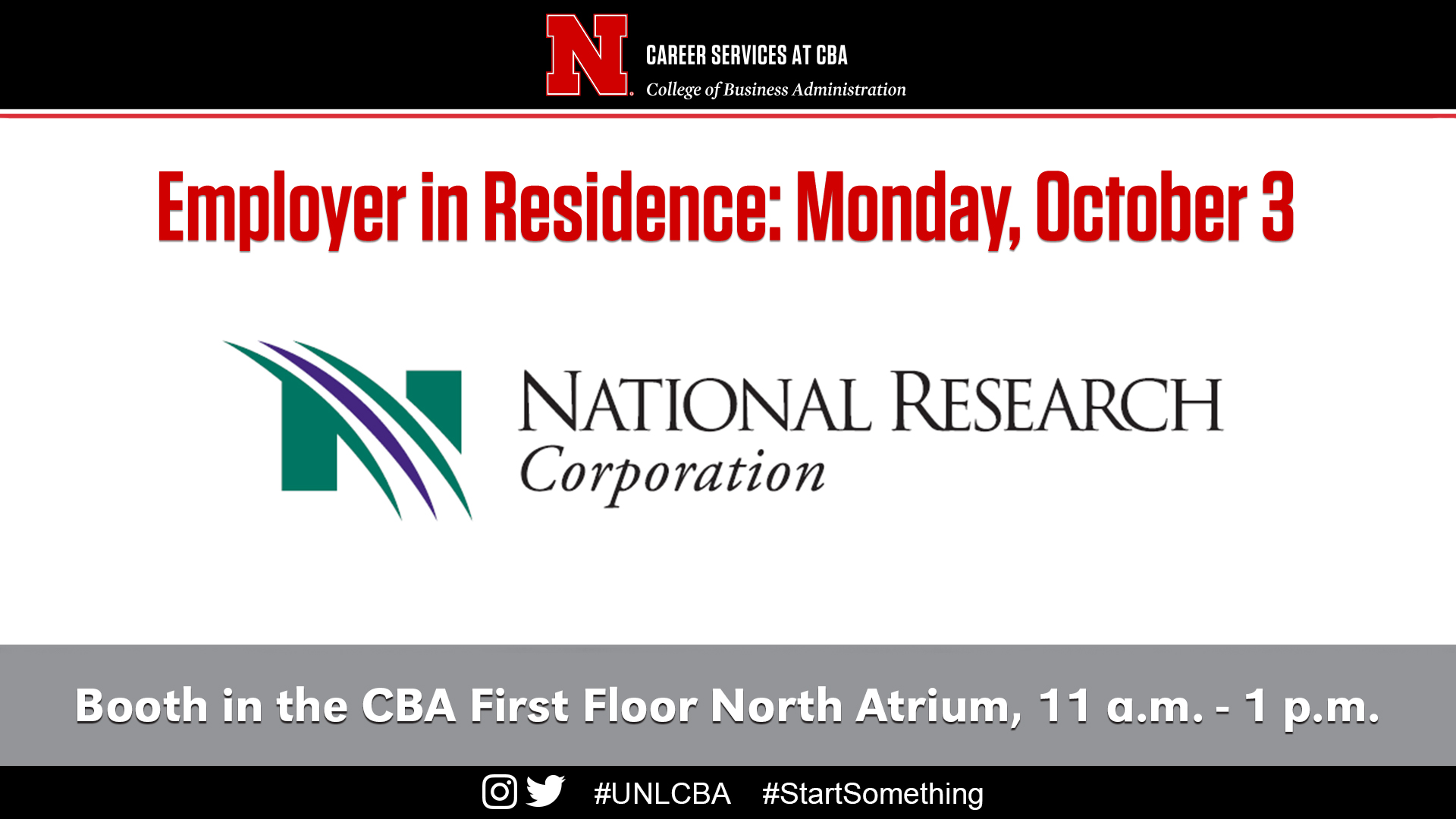 Monday October 3 National Research Corporation