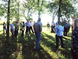 National Association of State Department of Agriculture recently took a tour of Nine-Mile Prairie.