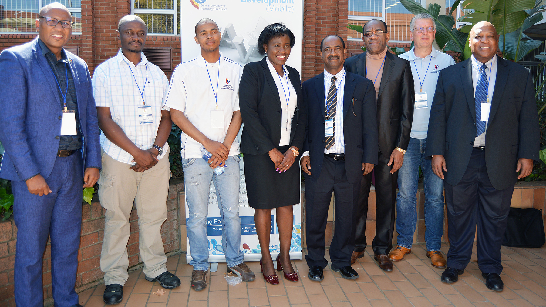 Tsegaye Tadesse (fourth from right), associate professor of applied climatology at Nebraska, recently helped launch a memorandum of understanding with the Central University of Technology, Free State in Bloemfontein, South Africa. | Courtesy image