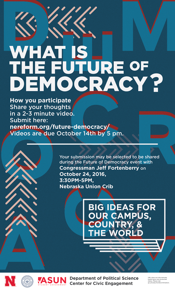 What Is the Future of Democracy poster