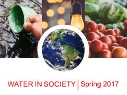 Water in Society course.