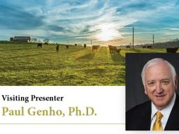 Dr. Genho is a Visiting Professor at the University of Florida and independent consultant for various agricultural firms.